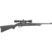 Ruger 10/22 Carbine 22 LR 18.5 in.Barrel 10 Rds Rifle Black with Scope