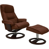 Omnia Italian Leather Ergo Big Sur Chair with Ottoman