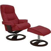 Omnia Leather Ergo Big Sur Chair with Ottoman