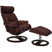 Omnia Leather Ergo Pismo Beach Chair with Ottoman