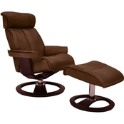 Omnia Leather Ergo Santa Monica Chair with Ottoman