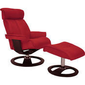 Omnia Italian Leather Ergo Santa Monica Chair with Ottoman