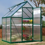 Palram PT Mythos 6 ft. x 4 ft. Green Series Hobby Greenhouse