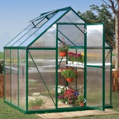 Palram PT Mythos 6 ft. x 6 ft. Green Series Hobby Greenhouse