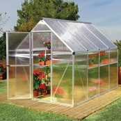 Palram PT Mythos 6 ft. x 8 ft. Silver Series Greenhouse