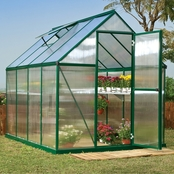 Palram PT Mythos 6 ft. x 8 ft. Green Series Hobby Greenhouse