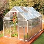 Palram PT Mythos 6 ft. x 10 ft. Silver Series Hobby Greenhouse