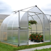 Palram Bella 8 ft. x 8 ft. Silver Hobby Greenhouse