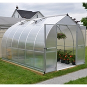 Palram Bella 8 ft. x 12 ft. Silver Hobby Greenhouse
