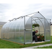 Palram Bella 8 ft. x 16 ft. Silver Hobby Greenhouse