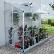 Palram Hybrid 4 ft. x 8 ft. Lean-To Greenhouse