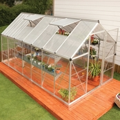 Palram Nature Hybrid 6 ft. x 14 ft. Silver Greenhouse