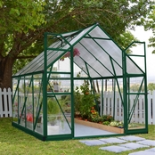 Palram Balance 8 x 8 Ft. Greenhouse, Green