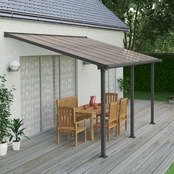 Palram Olympia 10 x 14 Ft. Patio Cover, Gray/Bronze