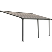 Palram Olympia 10 x 20 Ft. Patio Cover, Gray/Bronze