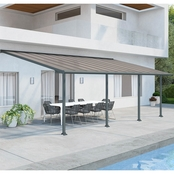 Palram Olympia 10 x 24 Ft. Patio Cover, Gray/Bronze