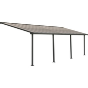 Palram Olympia 10 x 28 Ft. Patio Cover, Gray/Bronze