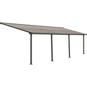 Palram Olympia 10 x 30 Ft. Patio Cover, Gray/Bronze
