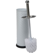 Bath Bliss Swirled Texture Toilet Brush and Holder Set
