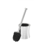 Bath Bliss Hour Glass Shaped Stainless Steel Toilet Brush and Holder Set