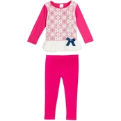 Gumballs Infant Girls 2 pc. Lace Top and Leggings Set
