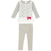 Gumballs Toddler Girls 2 pc. Lace Top and Leggings Set