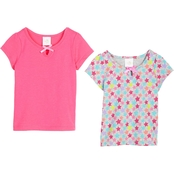 Gumballs Toddler Girls Solid and Print Tee 2 pk.