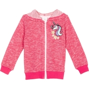 Gumballs Infant Girls Unicorn Zippered Knit Hoodie