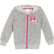 Gumballs Infant Girls Owl Zippered Knit Hoodie