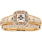 14K Gold 1 CTW Certified Diamond Bridal Set