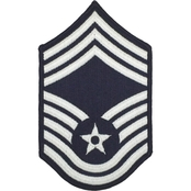 Air Force CMSgt, Chevron Sew-On, Small Blue
