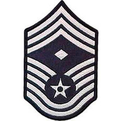 Air Force CMSgt (1st Sgt) Blue Chevron Small Rank