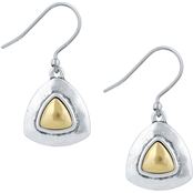 Lucky Brand Two Tone Drop Earrings