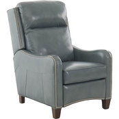 Klaussner Breeze Power High Leg Leather Recliner with Power Headrest and Lumbar
