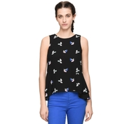 Armani Exchange Micro Leaves Blouse