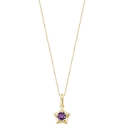 Karat Kids 14K Gold Imitation Amethyst Youth Star Pendant