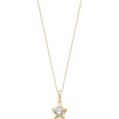 Karat Kids 14K Gold Imitation Cubic Zirconia Youth Star Pendant