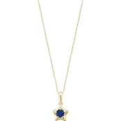 Karat Kids 14K Gold Imitation Sapphire Youth Star Pendant