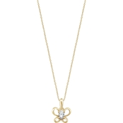 Karat Kids 14K Gold Oval Imitation April Butterfly Youth Necklace