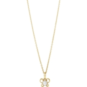 Karat Kids 14K Gold Oval Imitation June Butterfly Youth Necklace