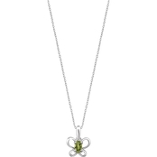 Karat Kids 14K Gold Oval Imitation August Butterfly Youth Necklace