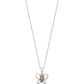 Karat Kids 14K Gold Oval Imitation November Butterfly Youth Necklace