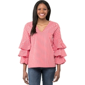 Kensie Gingham Check Top