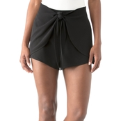 Kensie Smooth Stretch Crepe Shorts