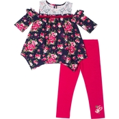 Little Lass Infant Girls 2 pc. Lace Floral Legging Set