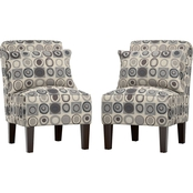 Handy Living Armless Accent Chair Set