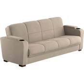 Handy Living Storage Arm Convert-a-Couch Sofa