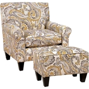 Chelsea Home Darryl Chair and Ottoman