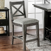 Furniture of America Faulkton Pub Chair 2 pk.