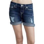True Religion Mid Roll Shorts